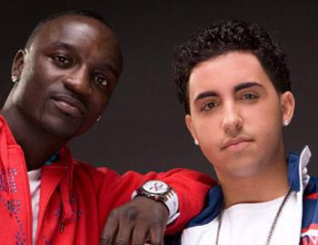 Colby O'Donis with Akon.