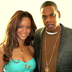Rihanna with Jay-Z.