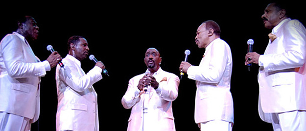 The Temptations (Otis Williams, center)